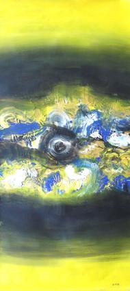 Creative Landscape by Deepak Guddadakeri, Abstract Painting, Acrylic on Canvas, Green color