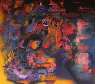 Rituals on the Ghats by Anjani Reddy, Decorative Painting, Acrylic on Canvas, Brown color