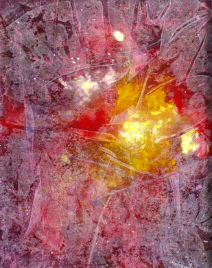 Cosmic Light by Hufreesh Dumasia, Abstract Painting, Acrylic on Canvas, Brown color
