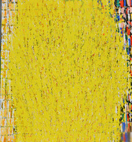 Celebration III by Kalicharan Gupta, Abstract Painting, Acrylic on Canvas, Yellow color