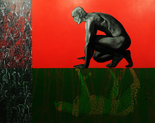 Hunter Digital Print by Pradip Unni,Surrealism