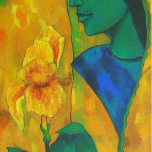 Untitled by Avinash Mokashe, Decorative Painting, Acrylic on Board, Green color