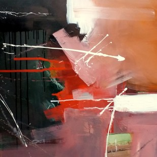 Untitled by Gulrez Ali, Abstract Painting, Acrylic on Canvas, Brown color