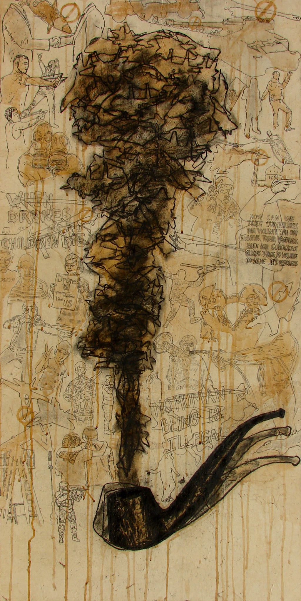 The Pipe of Democracy Digital Print by Rajib Chowdhury,Pop Art