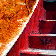 Architectural Abstract 01 by CR Shelare, Image Photograph, Digital Print on Canvas, Brown color