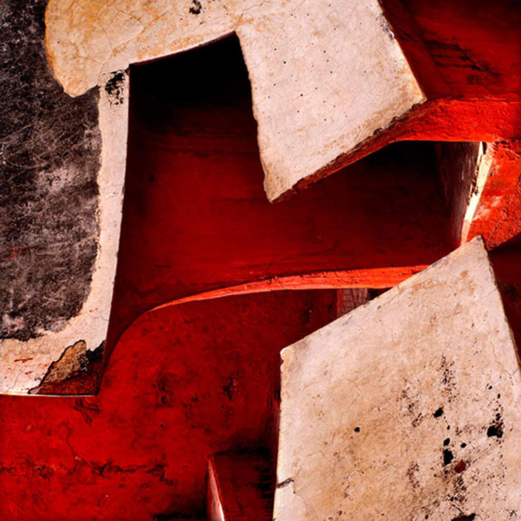 Architectural Abstract 05 by CR Shelare, Image Photograph, Digital Print on Canvas, Brown color