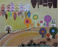 UNTITLED 13 by Amit Harit, Conceptual Painting, Acrylic on Canvas, Brown color