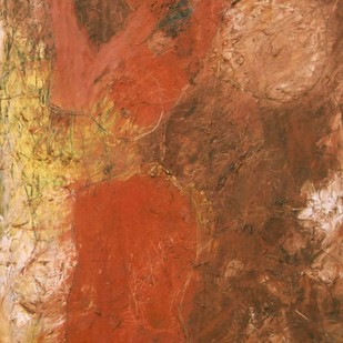 Give us this Day by Milon Mukherjee, Abstract , Oil on Canvas, Brown color