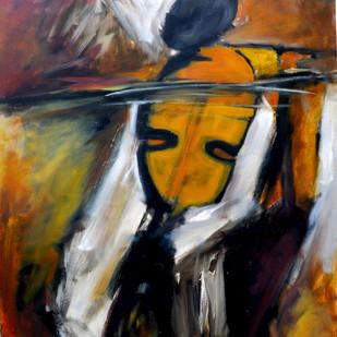 Towards Crescendo by Milon Mukherjee, Conceptual , Oil on Canvas, Brown color