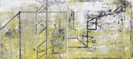 Spaces by Ruchi Shah, Geometrical Printmaking, Monotype on Paper,