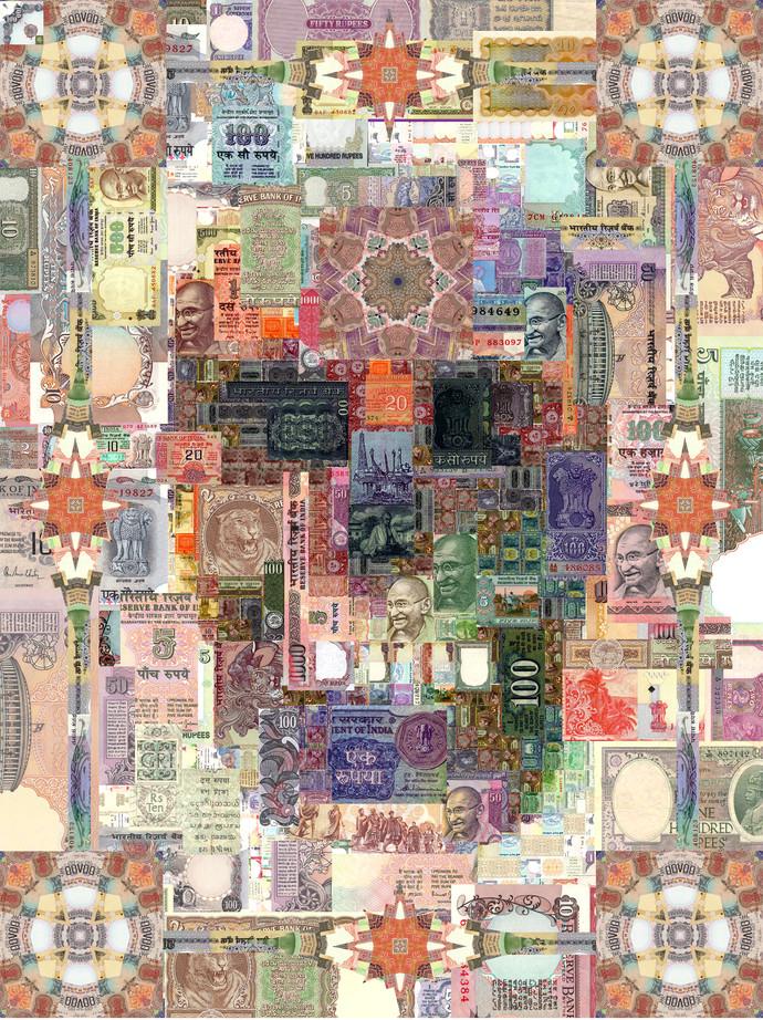 Security Threat 01 by Saptarshi Das, Conceptual Digital Art, Digital Print on Paper, Beige color