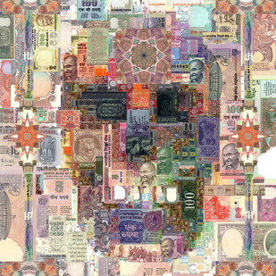 Security Threat 01 by Saptarshi Das, Conceptual Digital Art, Digital Print on Paper, Beige color