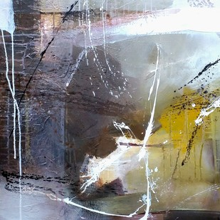 Ram by Gulrez Ali, Abstract Painting, Acrylic on Canvas, Gray color