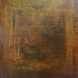 Untitled 06 by Poonam Rana, Abstract Painting, Acrylic on Canvas, Brown color