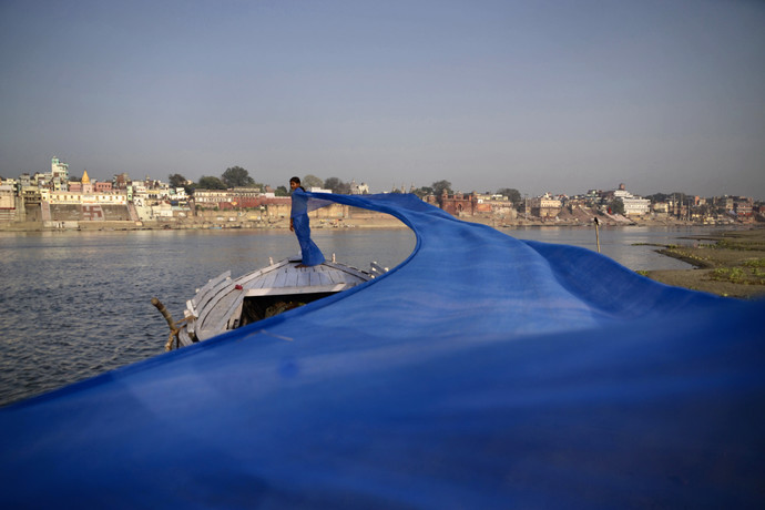 Avtaran -1 by B Ajay Sharma, Image Photography, Digital Print on Paper, Blue color
