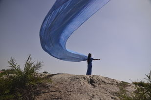 Avatran - 2 by B Ajay Sharma, Image Photography, Digital Print on Paper, Blue color