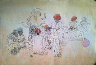 Pushkar Conference Digital Print by Sreenivasa Ram Makineedi,Illustration