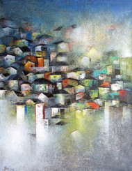 Village of your and my dream Digital Print by M Singh,Impressionism