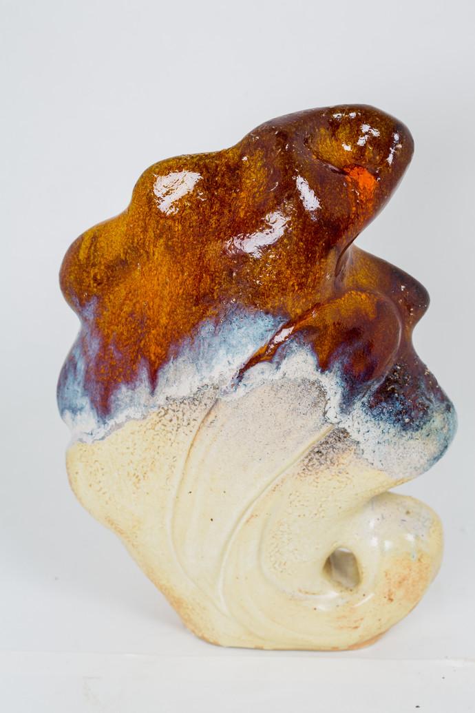 Ganesha 1 by Sarika Malik, Decorative Sculpture, Ceramic, Gray color