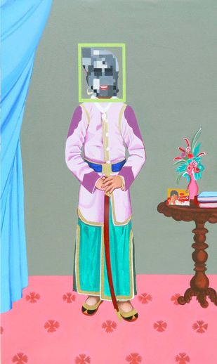 Our Prince by Jignesh Panchal, Pop Art Painting, Acrylic on Canvas, Beige color