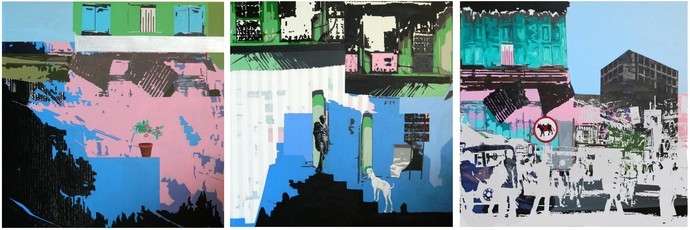 Portrait Of A City by Jignesh Panchal, Pop Art Painting, Mixed Media on Canvas,