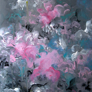 Eternal Spring by Shan Re, Impressionism Painting, Acrylic on Canvas, Green color