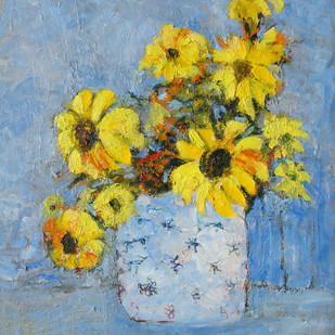 Sunflowers Digital Print by Animesh Roy,Impressionism
