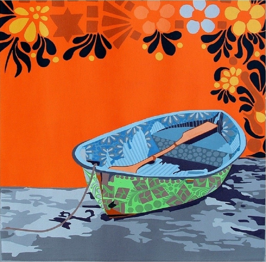 Nature Boat 1 Digital Print by Barkha jain,Decorative