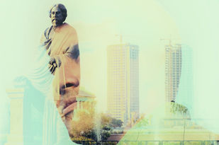 Bangali by Subhajit Dutta, Image Photography, Digital Print on Paper, Cyan color