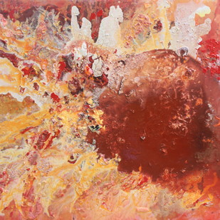 Enchantments by Rashmi Khurana, Abstract Painting, Acrylic on Canvas, Brown color