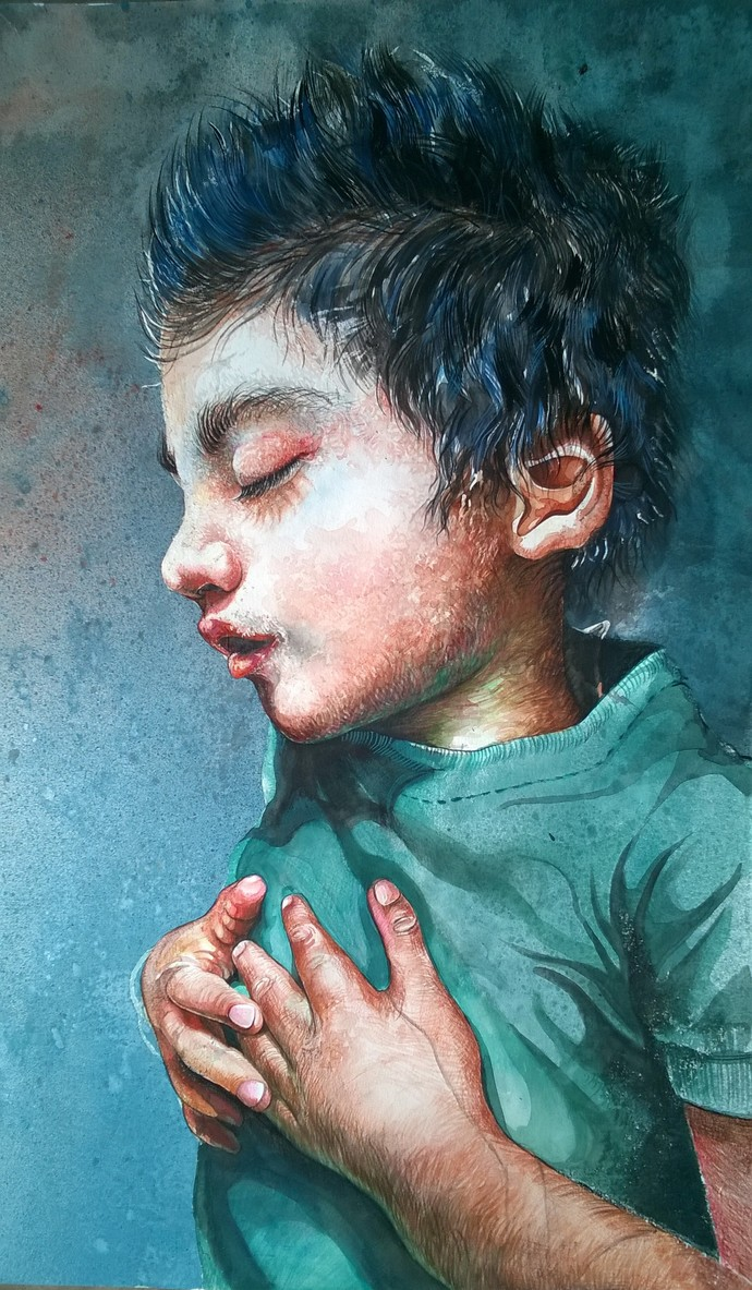 Innocence Digital Print by Avinash Kumar,Realism