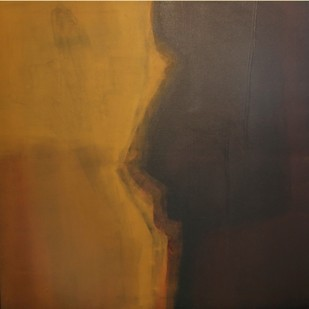 Untitled by Shekhar Shivaji Salunkhe, Abstract Painting, Acrylic on Canvas, Brown color