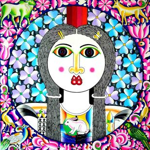 Young Girl Artwork By Ravi Kattakuri