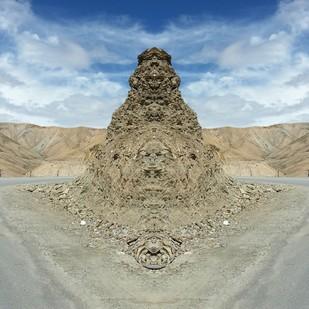 The Monolith by Pankaj Mullick, Digital Digital Art, Digital Print on Canvas, Beige color