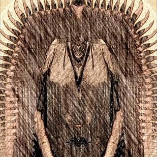 My Goddess by Pankaj Mullick, Digital Digital Art, Digital Print on Canvas, Brown color