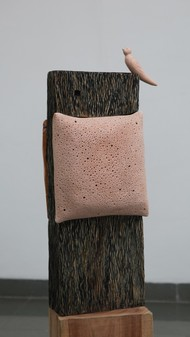 Endeavor Happiness by Banita Bhau, Art Deco Sculpture | 3D, Wood, Gray color