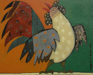 Untitled by Nibedita Basu, Naive Painting, Acrylic on Board, Brown color