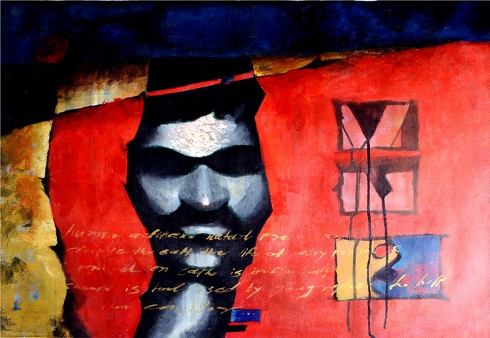 Blind Vision by Chaitan , Expressionism Painting, Acrylic on Canvas,