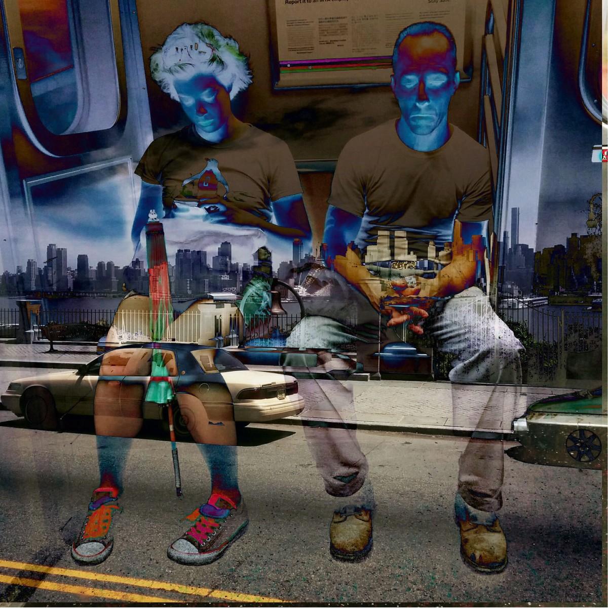 New York City by Prapti Mittal, Digital Digital Art, Digital Print on Canvas, Blue color