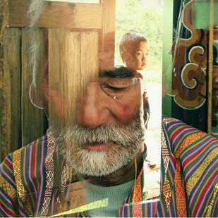 Looking Back by Prapti Mittal, Digital Digital Art, Digital Print on Canvas, Brown color
