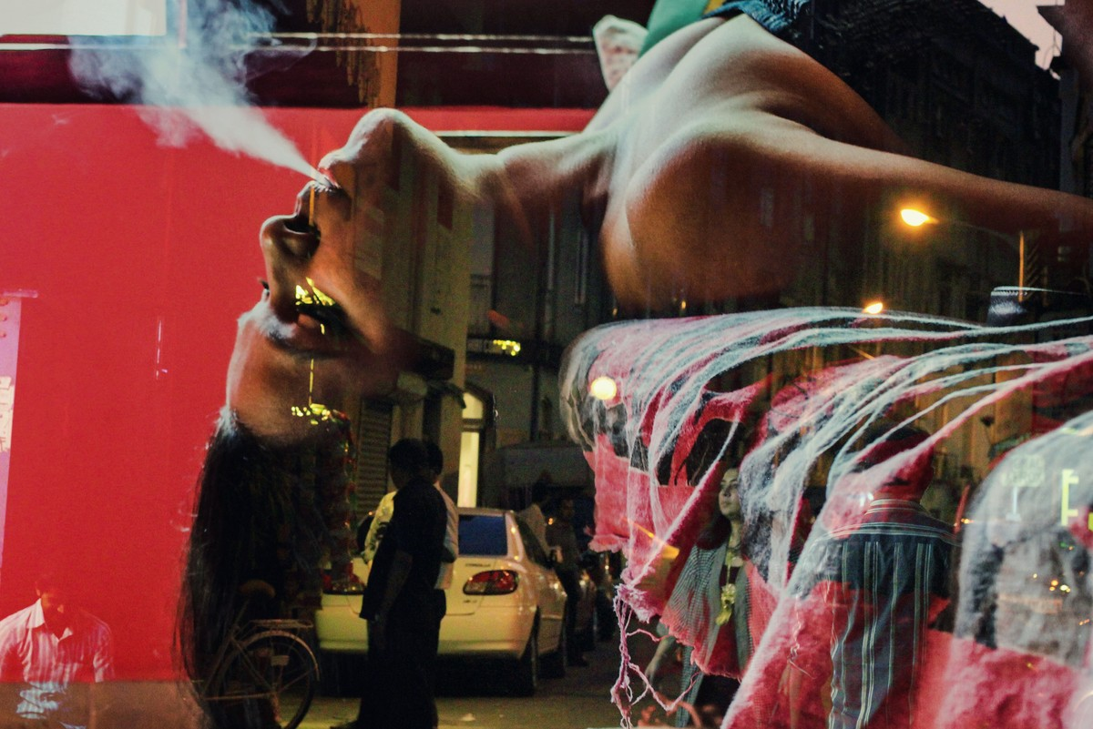 Love On The Streets by Prapti Mittal, Digital Digital Art, Digital Print on Canvas, Brown color