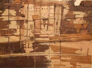 Ghat of Varanasi by S K Nag , Decorative Sculpture, Wood, Brown color