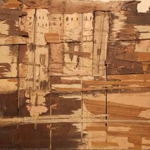 Ghat of Varanasi by S K Nag , Decorative Sculpture, Wood, Brown color