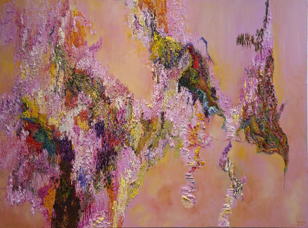 Responding Balancing - The Rhythm of Chaos 1 Digital Print by Nandita Mukand,Abstract