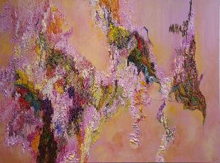 Responding Balancing - The Rhythm of Chaos 1 by Nandita Mukand, Abstract Painting, Oil & Acrylic on Canvas, Brown color