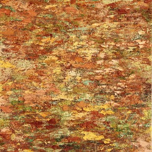 Silent As Light 1 by Nandita Mukand, Abstract Painting, Mixed Media on Canvas, Brown color