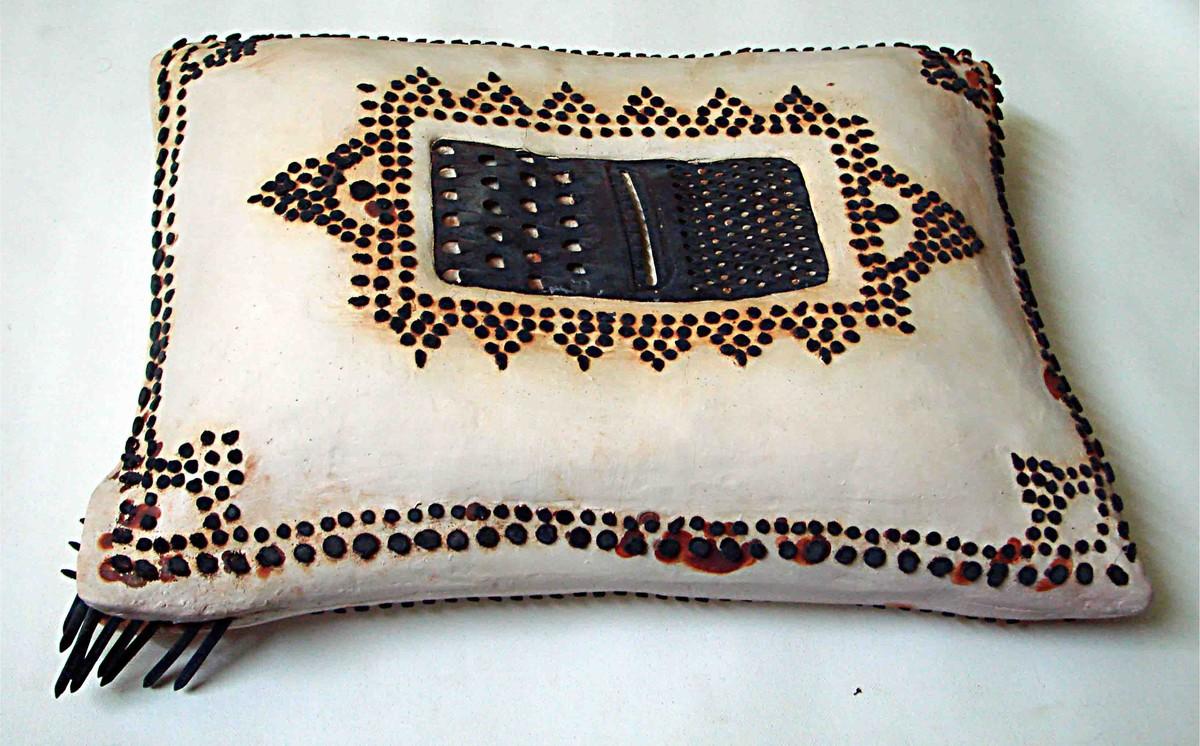 My Pillow by David Rai, Art Deco Sculpture | 3D, Ceramic, Gray color