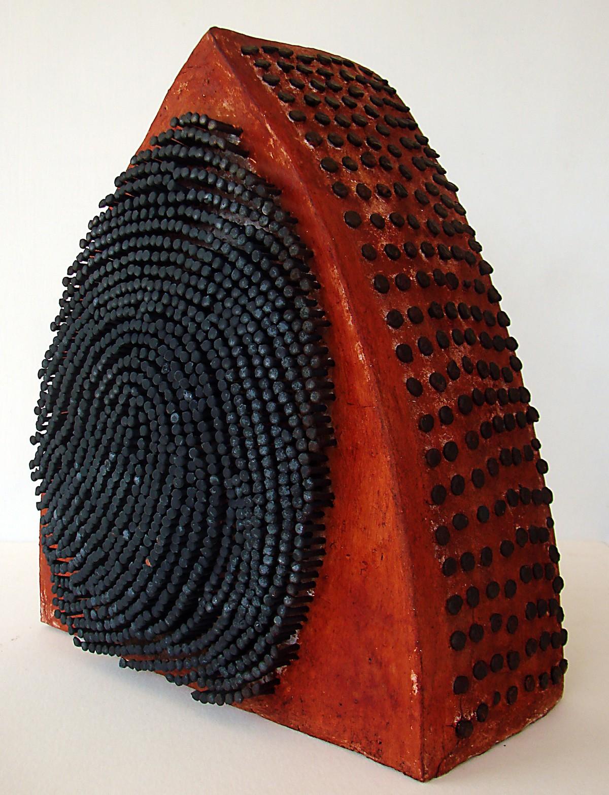 Identity by David Rai, Art Deco Sculpture   3D, Ceramic, Gray color