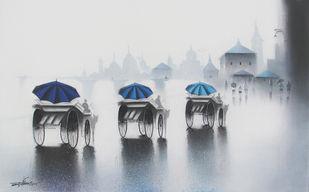 Rhythmic Monsoon by Somnath Bothe, , , Gray color