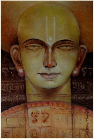 Maha Provu by Arun Kumar Samadder, Decorative , Oil on Canvas, Brown color